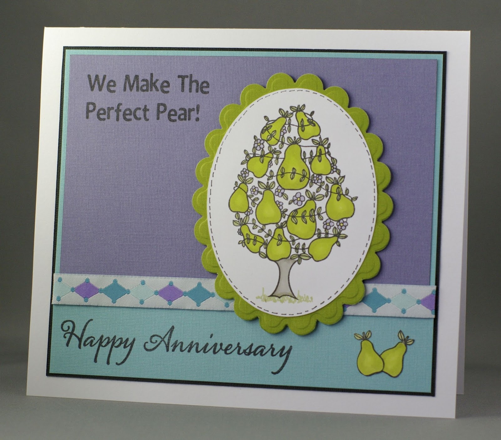 Perfect For Anniversary Cards And: Lynne's Crafty Little Blog: We Make The Perfect Pear