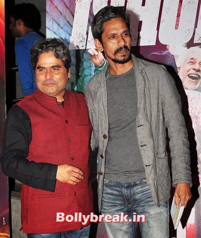 Vishal Bhardwaj and Vijay Raaz, Dedh Ishqiya Premiere