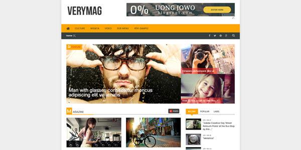 Verymag Blogger template responsive