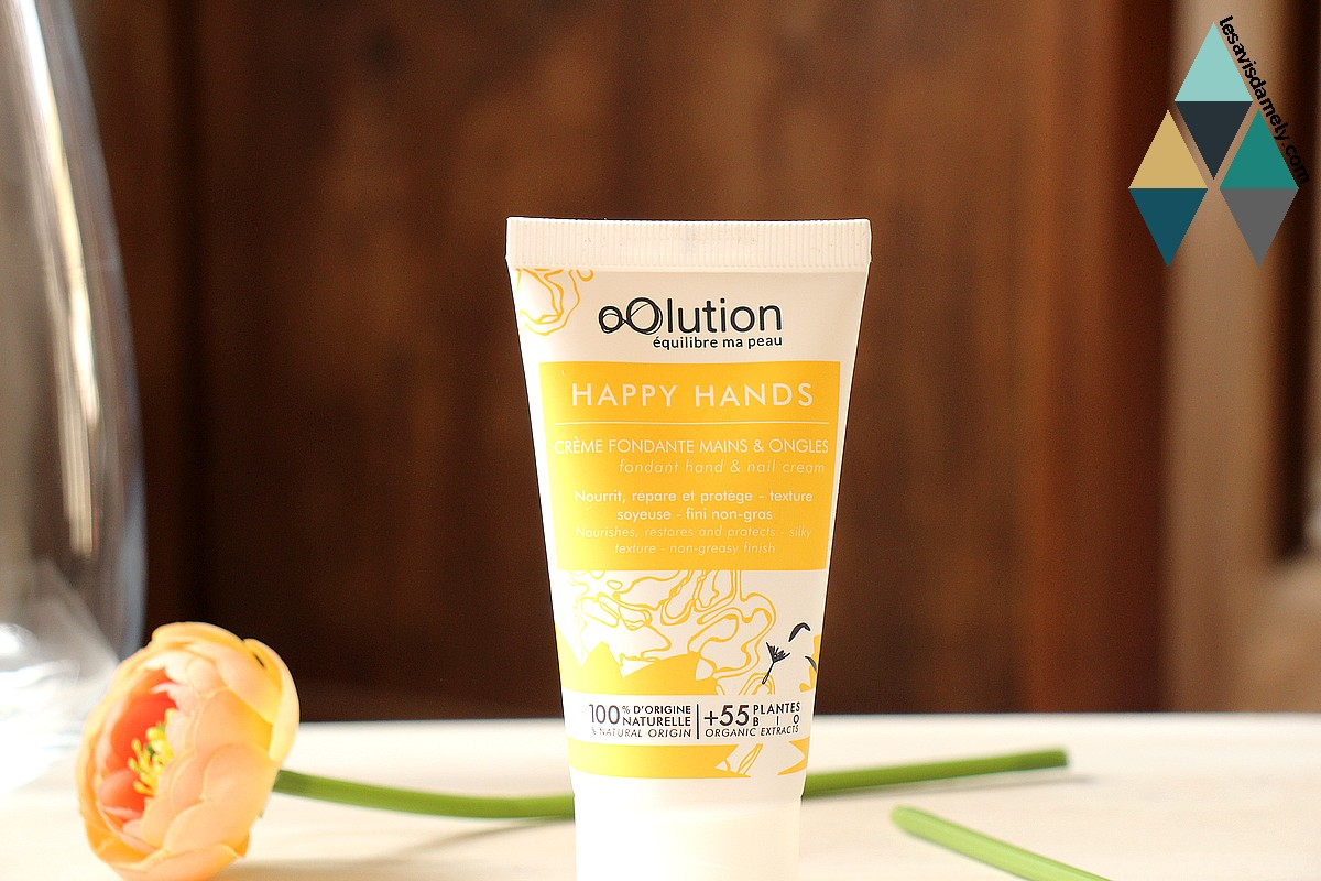 avis happy hands crème fondante hydratante bio mains et ongles oolution