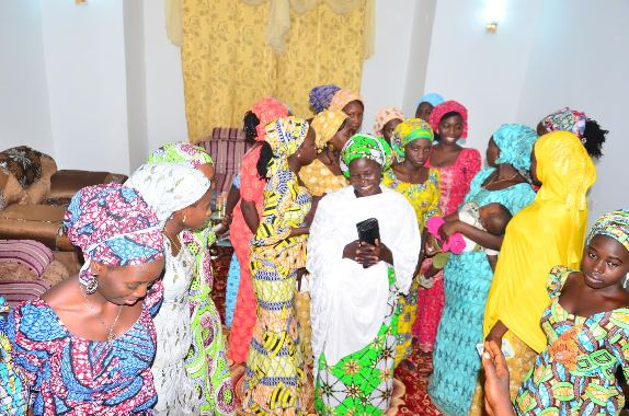 Photos of 21 Chibok schoolgirls in Chibok town on Boxing Day