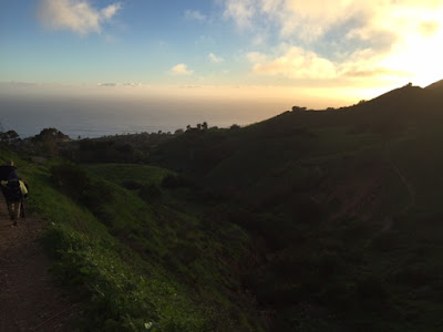 gorgeous sunset palos verdes rattlesnake trail