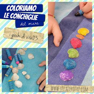 coloriamo le conchiglie vitazerotre.com