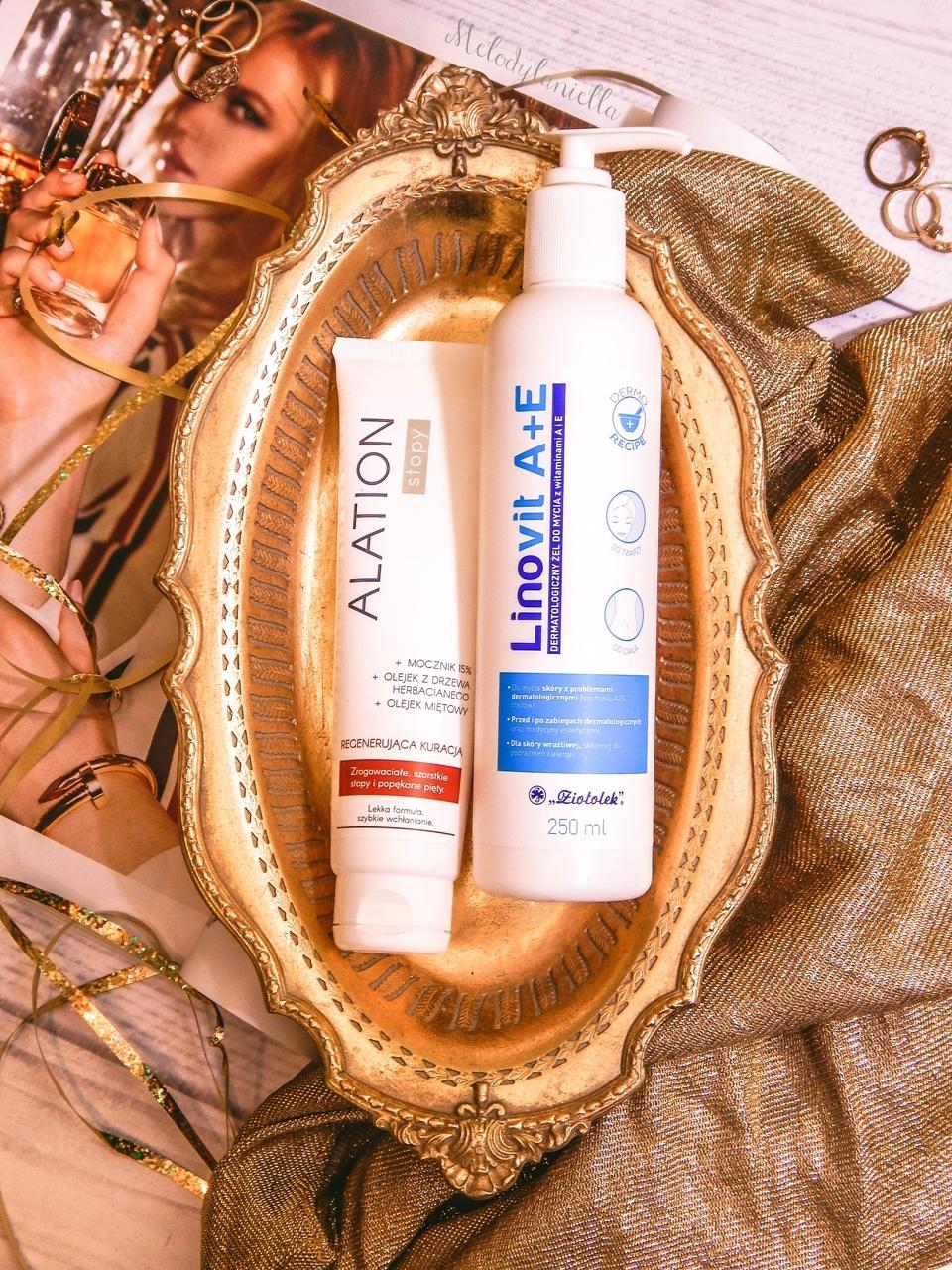 2 ziołolek Linovit a + e dermatologiczny żel do mycia z witaminami  recenzja opinia działanie żel produkty do skóry alergicznej mieszanej atopowej trudnej wrażliwej