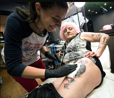 This 59-year old grandma has 20 tattoos of Jose Mourinho on her body, says 'I'm addicted to him'