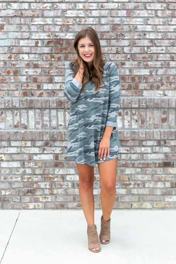 Camo Cutie Dress- Cotton Ave Boutique