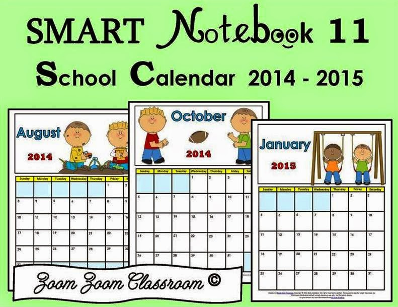http://www.teacherspayteachers.com/Product/SMART-Notebook-School-Calendar-2014-2015-1395265