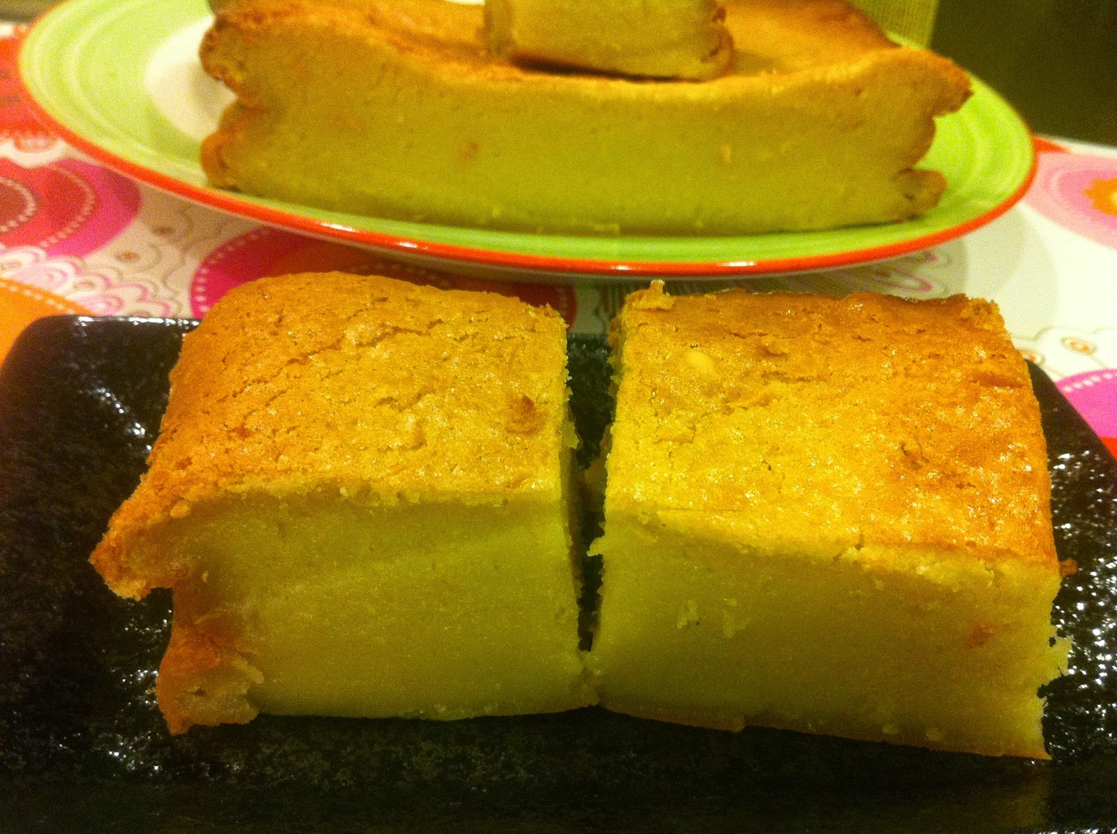 Baked Coconut Nian Gao Chinese New Year Cake 烤椰汁年糕