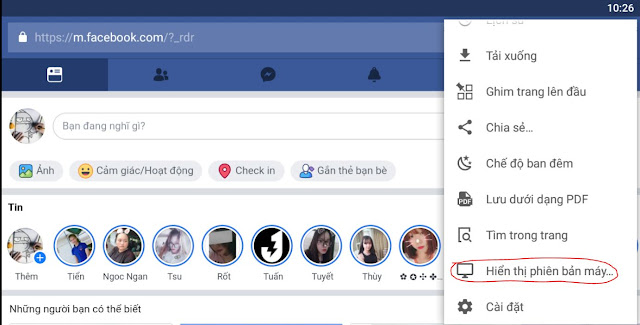 Đăng nhập vào Facebook trên điện thoại