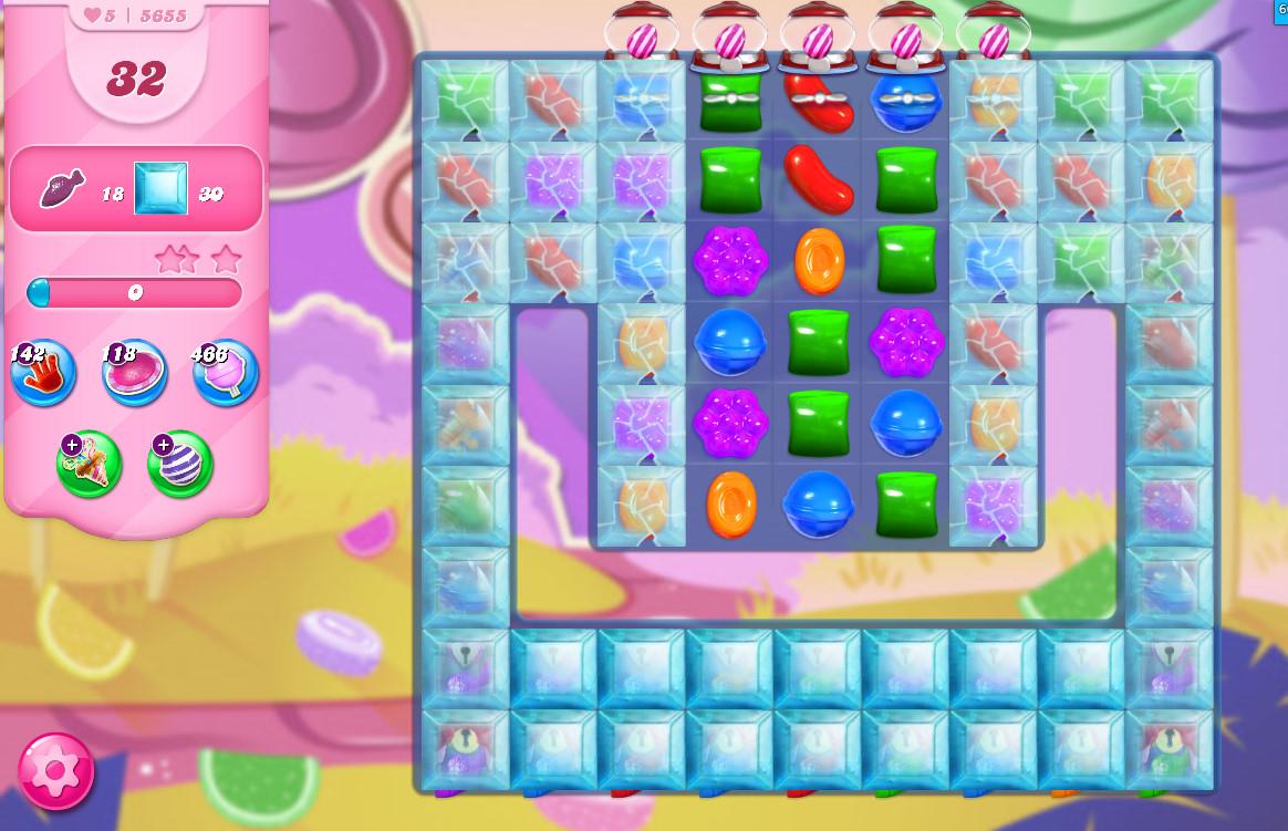 Candy Crush Saga level 5655
