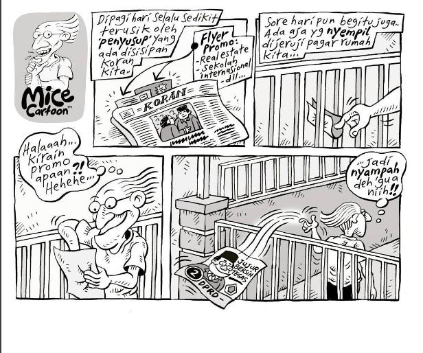 Muat Kartun Nomor Urut 2 Nyampah, Ini Tanggapan Mice