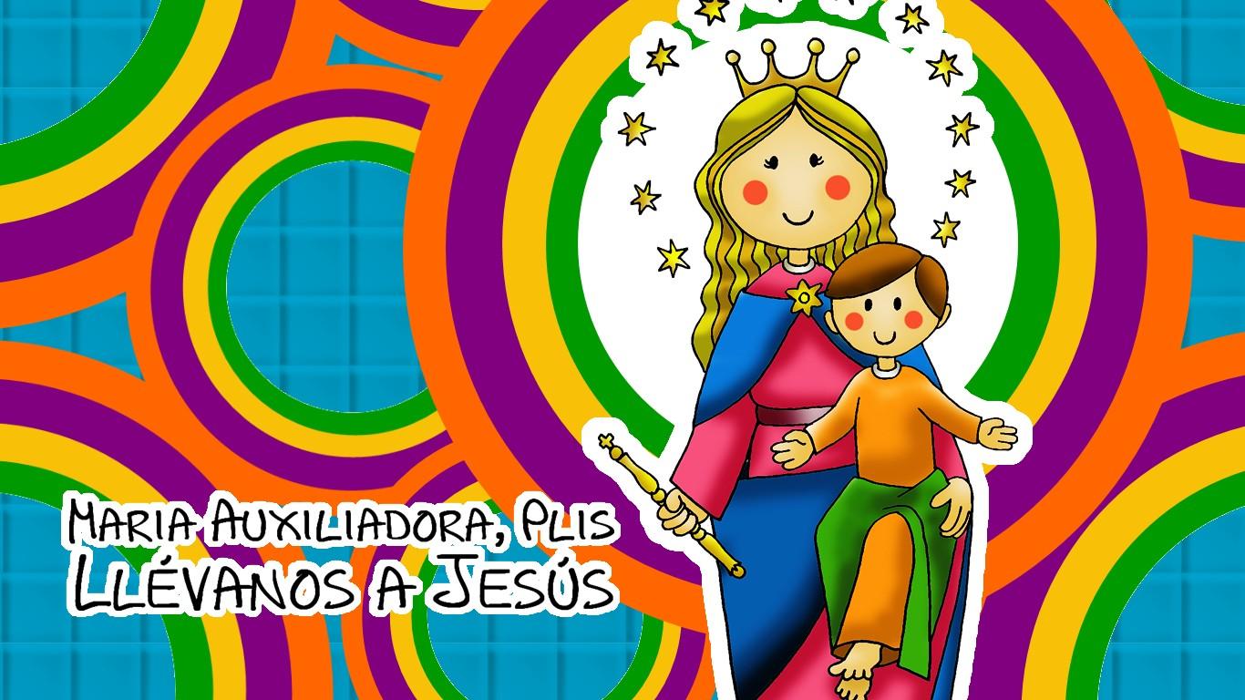 Elegante Imagenes De La Virgen Maria Auxiliadora Para Colorear