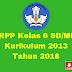 RPP Kelas 6 SD/MI Kurikulum 2013 Tahun 2018