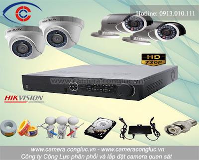 Trọn bộ camera quan sát Hikvision do Cộng Lực lắp đặt và phân phối trên thị trường.