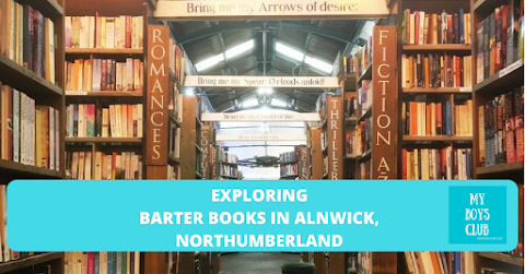 Exploring Barter Books in Alnwick, Northumberland