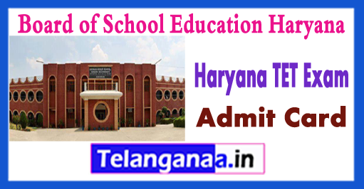 Haryana Teacher Eligibility Test Level 1 2 3 Exam Admit Card 2018 Download