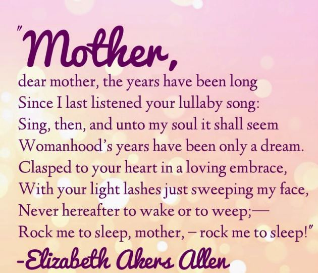 Sad Mothers Day Poems For Mother\'s Who Passed Away - Mothers Day ...