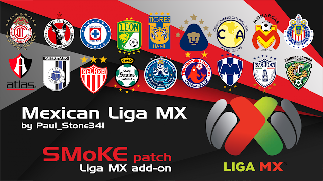 PES 2017 Mexican League Add On untuk SMoKE Patch 9.3.2