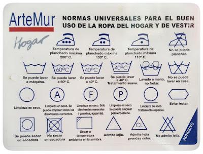 pictograma cuidado textil