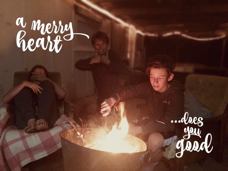 """A Merry Heart Does you GOOD (like a Medicine)"""