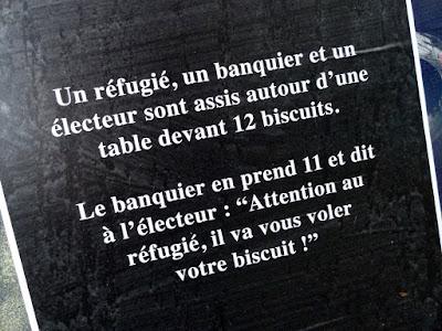 Un réfugié, un banquier et un électeur