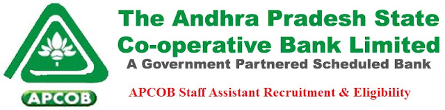 APCOB Recruitment 2016 Eligibility & Apply Online for Staff Assistant Posts