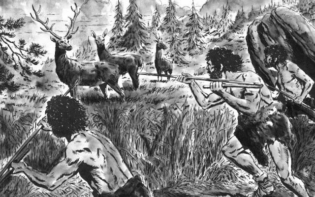 Gambar ilustrasi sejarah berburu dan meramu