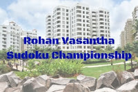 1st Sudoku Competition held at Rohan Vasantha Apartments
