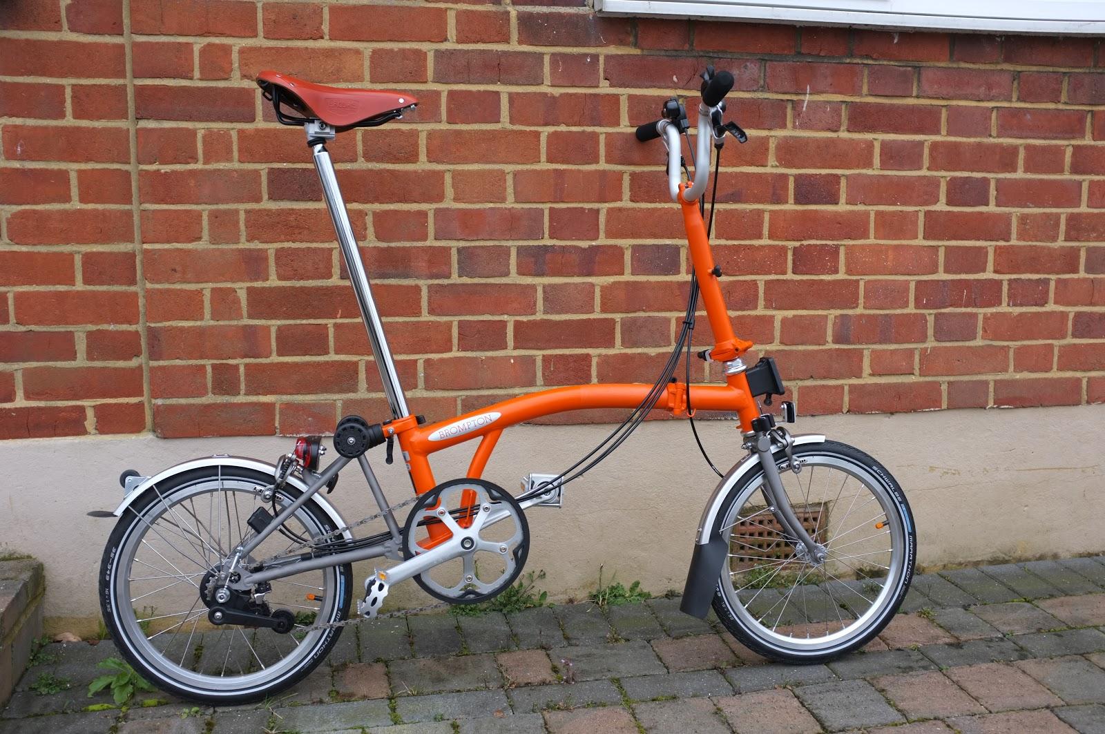 My Orange Brompton Full Review of my Titanium Orange Brompton