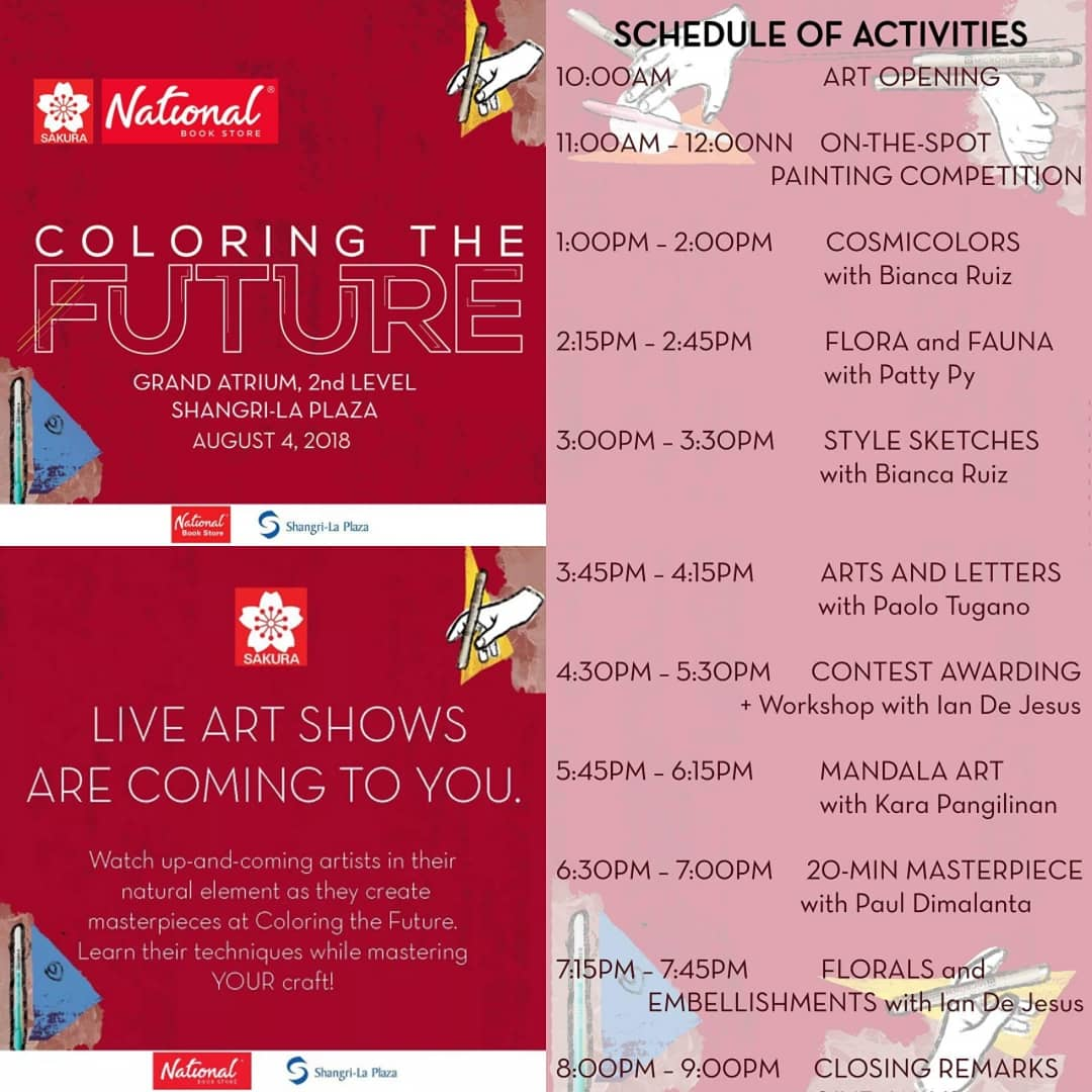 Coloring the Future with Sakura Philippines on August 4, 2018 ...
