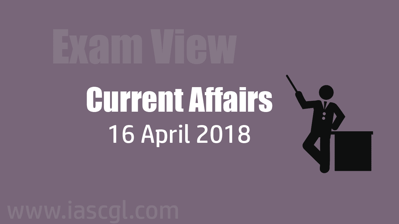 Current Affair 16 April 2018