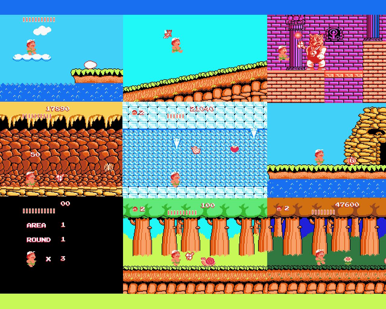Pixel Art Adventure Island Nes High Res Wallpaper 8 Bit City
