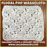 Floral Pop Washcloth