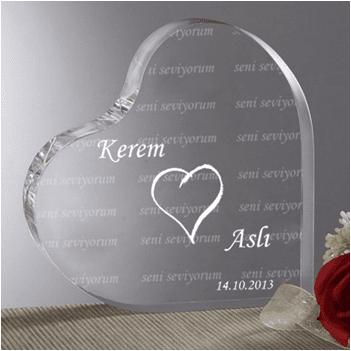 Sevgiliye Özel Akrilik Kalp Ödül