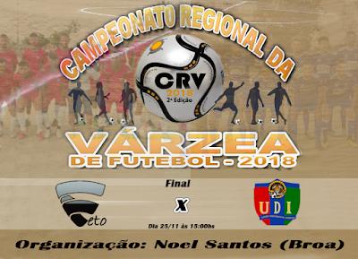 Definidos os finalistas do Campeonato Regional da Várzea 2018