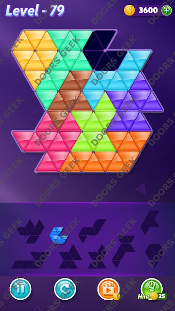 Block! Triangle Puzzle Proficient Level 79 Solution, Cheats, Walkthrough for Android, iPhone, iPad and iPod