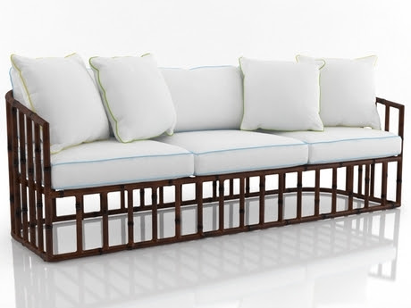[FREE 3D MODEL]  WOODEN & BAMBOO FURNITURE COLLECTION SET 2