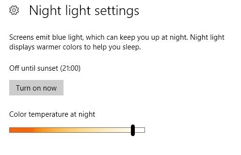 color temperature night light