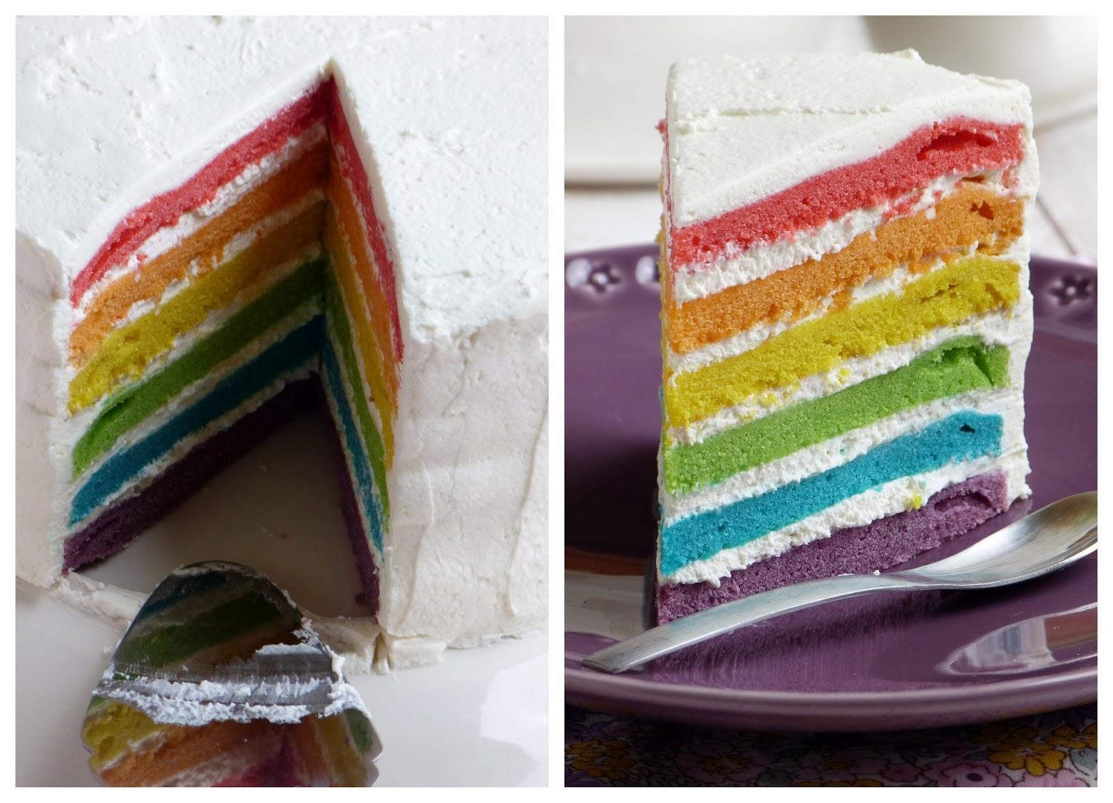 gâteau smarties arc en ciel