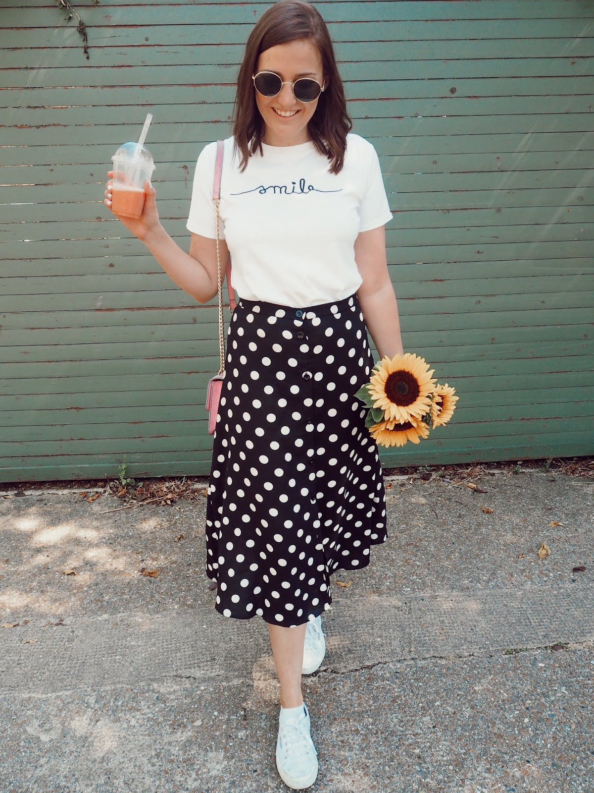 The Polka Dot Skirt - My Go To Summer Outfit // Lauren Rose Style Fashion Blogger Street Style London OOTD WIWT