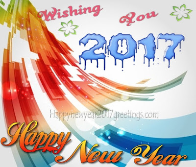 (Happy} New Year 2017 Colorful Photo Greetings