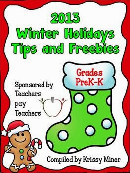 2013 Winter Holiday Tips and Freebies PreK-K