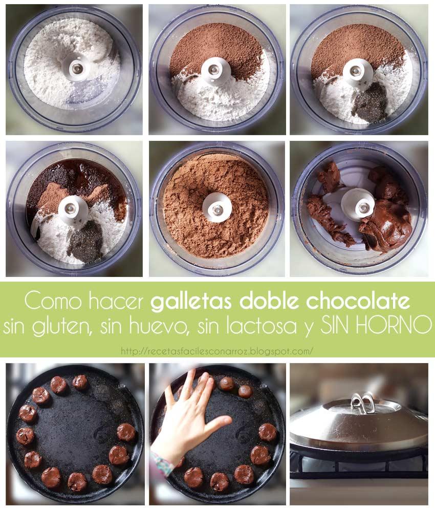 galletas chocolate sin gluten fototutorial