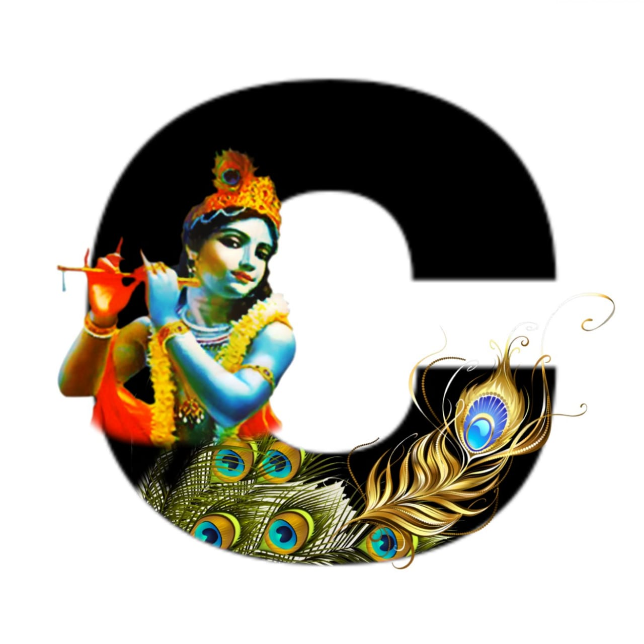 shree krishna alphabet c images