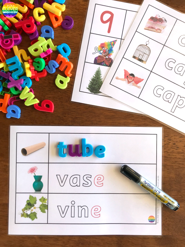 CVCe Word Mats | you clever monkey
