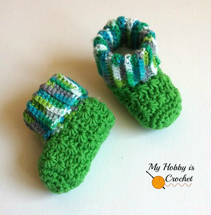 Galaxy Baby Booties - Free Crochet Pattern