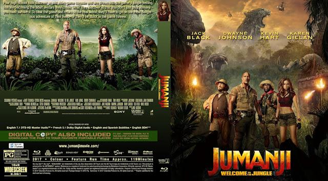 Jumanji Welcome To The Jungle Bluray Cover
