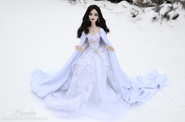 Evangeline Ghastly in winter scenery