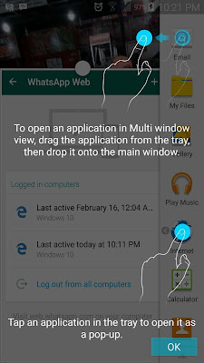 Samsung Galaxy S7 Multi Window Setting