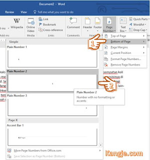 Langkah 3 Cara Menambahkan Page Number Dan Mengatur Posisinya Di Microsoft Word